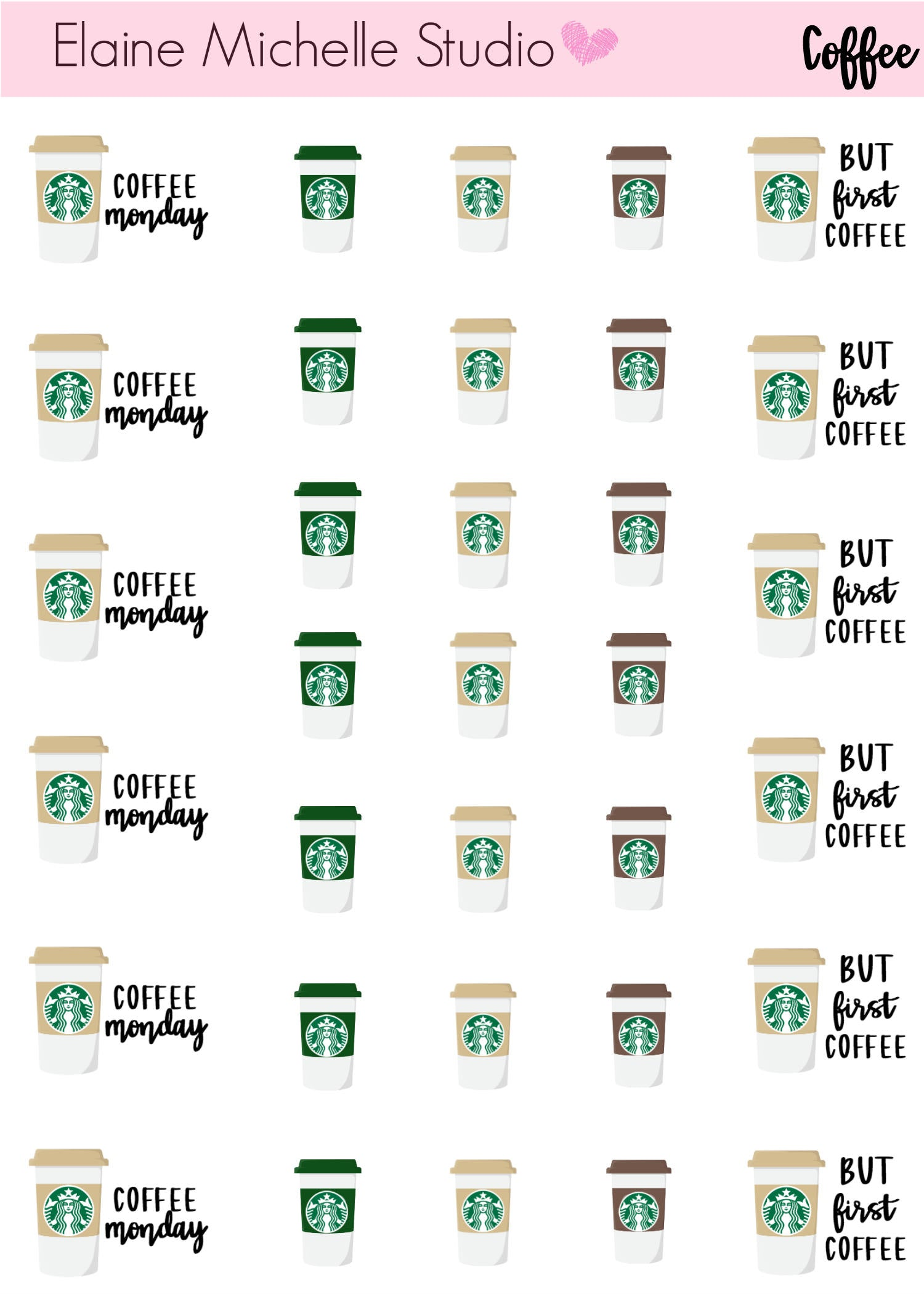 Coffee Cup- Planner Stickers