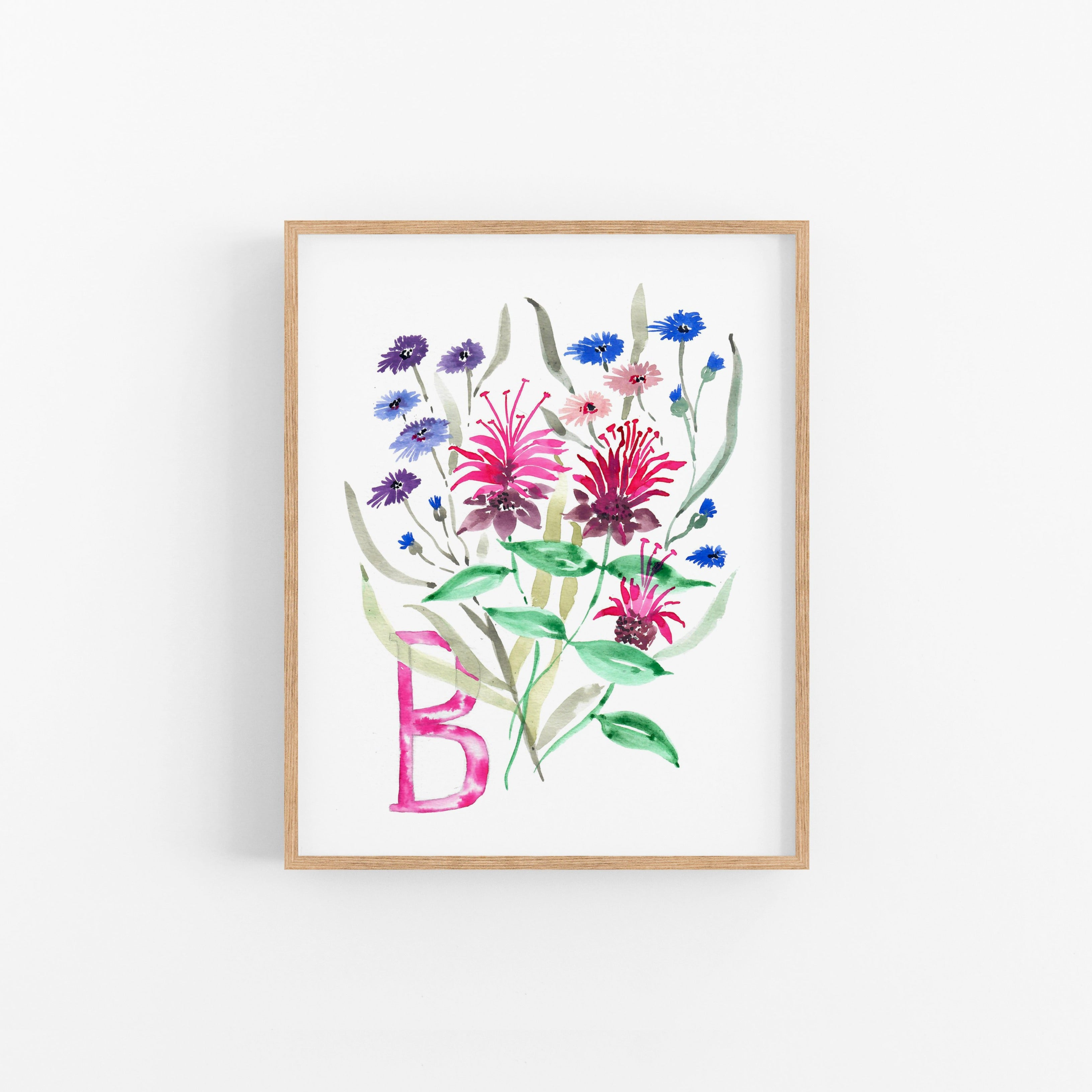 B is for Bee Balm Fine Art Print