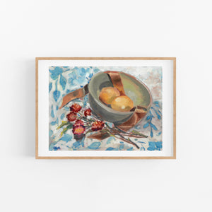 Lemons and Blue Fine Art Print