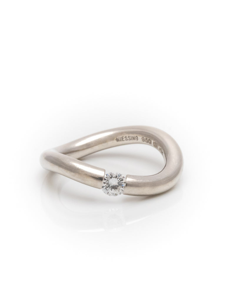 Niessing Verlobungsring 950 Platin Ring mit 0,3 ct Diamanten