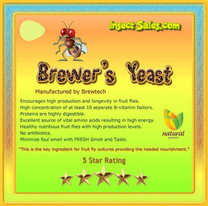 Brewers Yeast (TOP GRADE All Natural 100% Organic) For Fruit Fly Cultures--13 oz.
