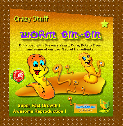 Crazy Stuff Worm Din-Din 2 lbs. Awesome Worm Growth Food For All Compost Worms