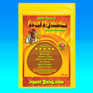 Fruit Fly Media for Hydei and Melanogaster Fruit Flies 100% Organic - (13 oz.)