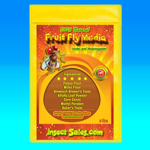 Fruit Fly Media for Hydei and Melanogaster Fruit Flies 100% Organic (5 Lb.)