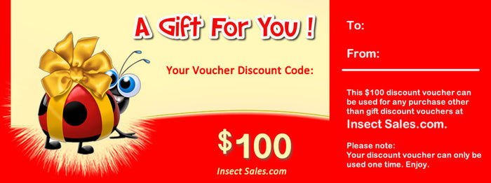 $100 Discount Vouchers Make Great Gifts.