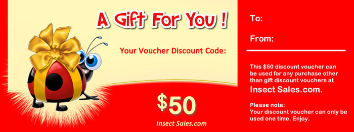 $50 Discount Vouchers Make Great Gifts.