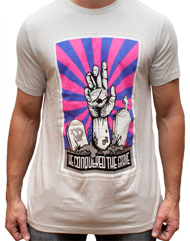 Conquered the Grave T-Shirt - Gray/Bright (Limited Edition)