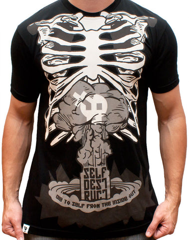Inside Out Ribs T-Shirt - Black