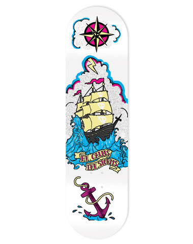 He Calms The Storms - Skate Deck - White/Blue/Pink/Yellow