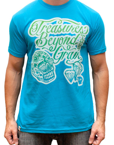 Treasures Beyond The Grave T-Shirt - Blue
