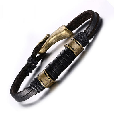 Anun Vintage Leather Men's Bracelet