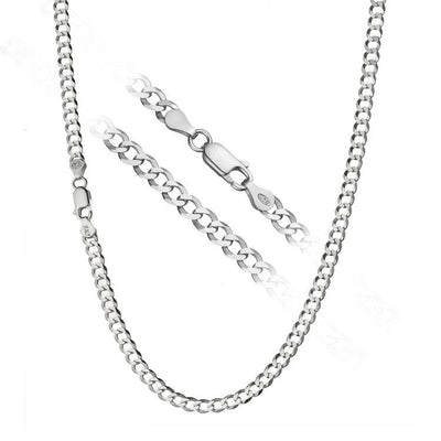 Silver Solo Chainlink Necklace for Men