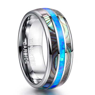 Blue Abal Shell Ring for Men
