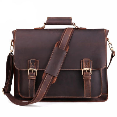 Effentii Genuine Leather Briefcase and Laptop Bag
