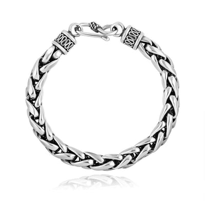 Effentii - Harvest Braid 925 Sterling Silver Bracelet for Men