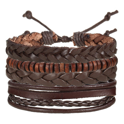 Mile 93 Men's Leather Bracelet