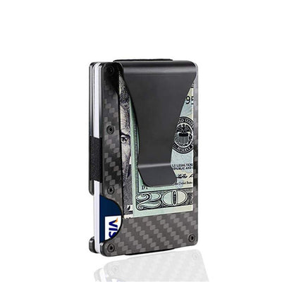 Kronos RFID Protection Wallet Carbon Fiber Money Clip