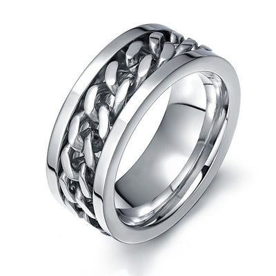 Chain Spinner Men's Meditation Ring