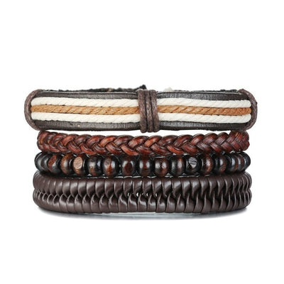 Bohemian Pulse Leather Bracelet for Men