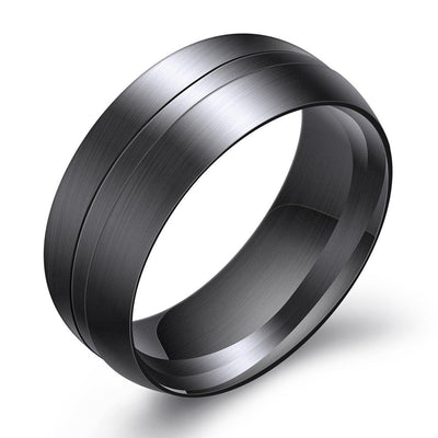 Darkstar Brushed Steel Men's Ring