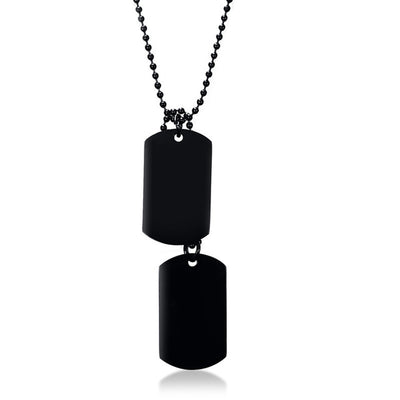 Effentii Double Men's Dog Tag Necklace