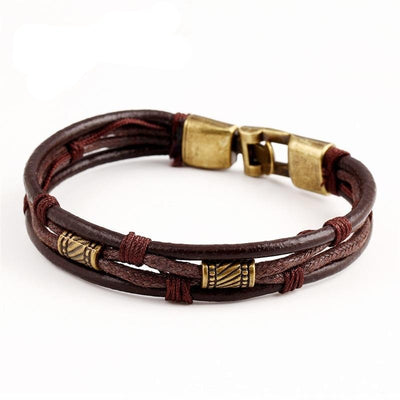 Vinci Vintage Men's Leather Bracelet