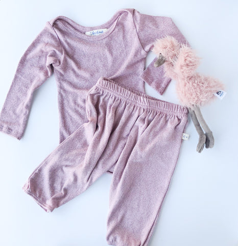 Cozy Pants in Lilac Heather