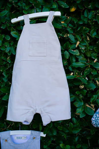 Boys Organic Brushed Cotton Twill Playsuit