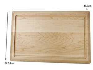 Organic maple cutting board