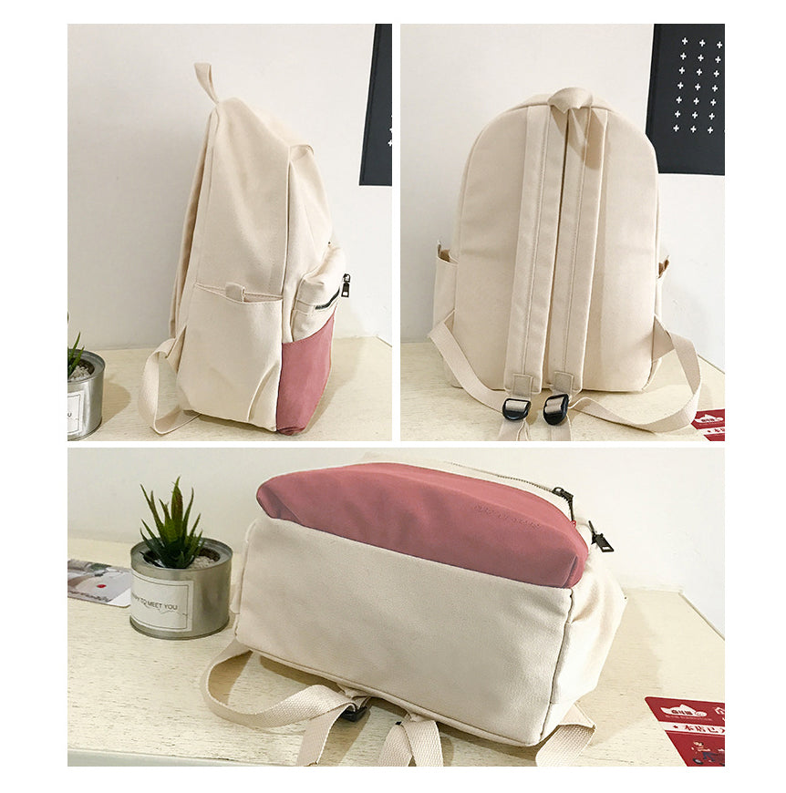 Pastel Canvas Backpack