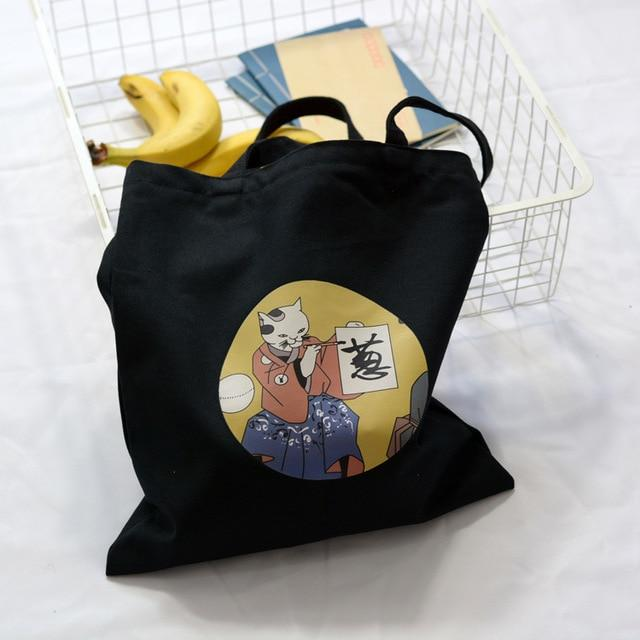 Calligraphy Cat Tote