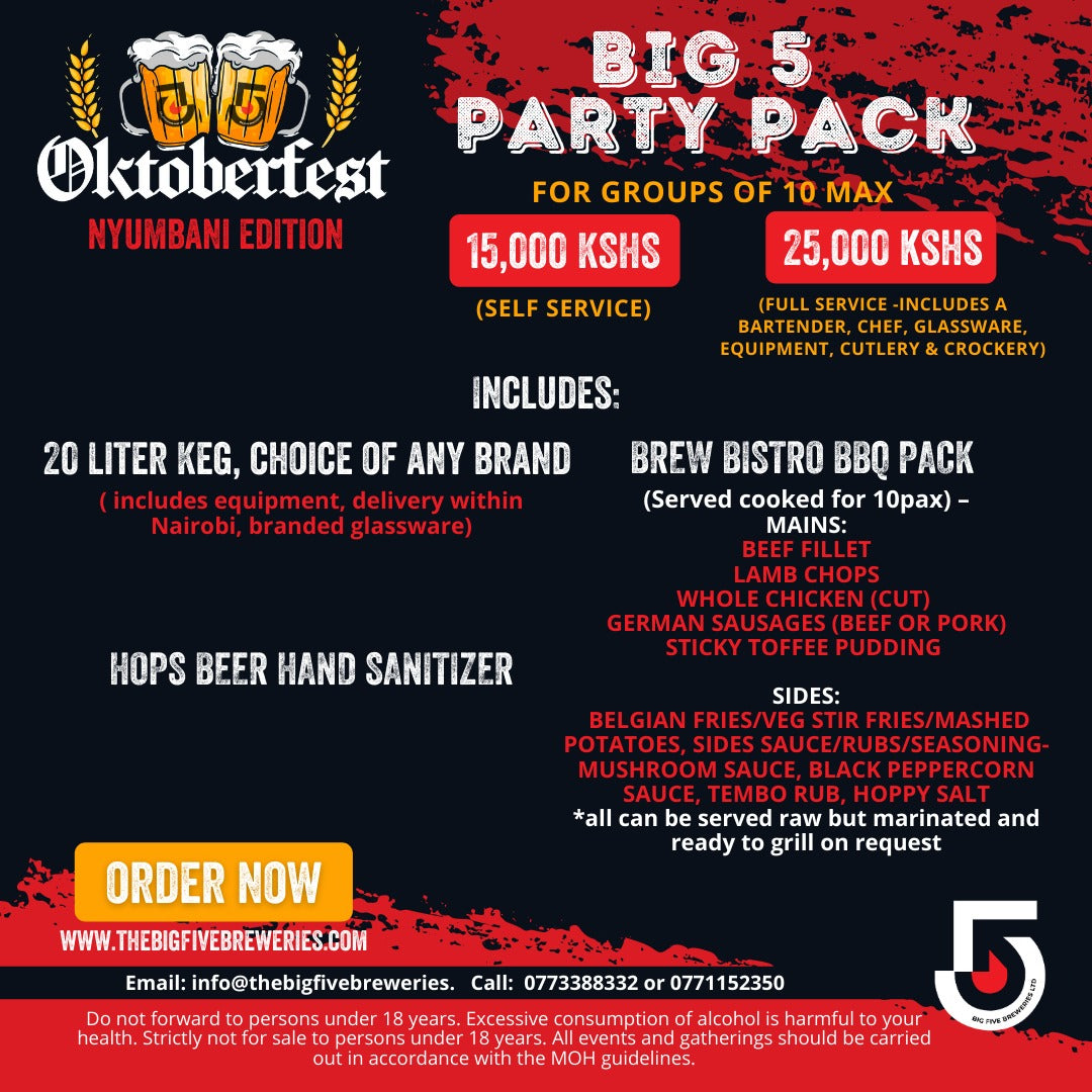 OKTOBERFEST OFFER BIG 5 PARTY PACK (FOR 10 PAX) FS