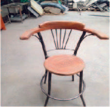 Wooden Cocktail chairs ( height - 1.20 diameter - 330mm)mtrs
