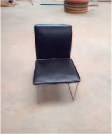 Low Black Chairs (400x400x750)mm