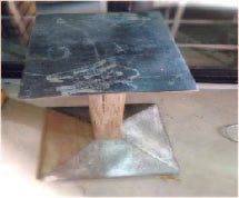 Metal Table stand (300 x 300 x 900)