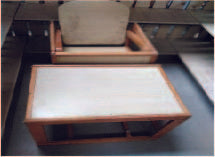 Wooden baby seat + Tables (400x350 x450)mm