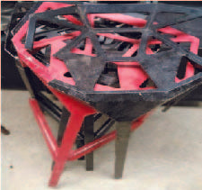 Cast iron high stools