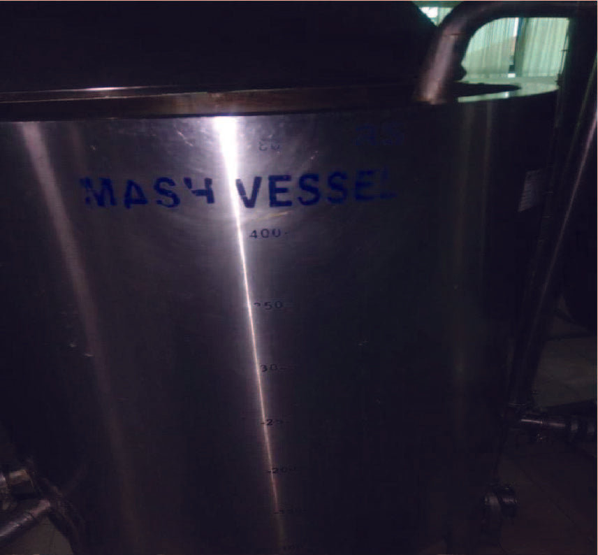 STAINLESS STEEL JACKETED STEAM HEATED MASH VESSEL 500LTR