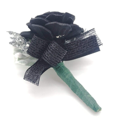 Timeless Black Boutonniere