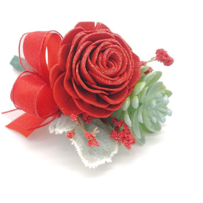 Modern Red Boutonniere