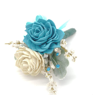 Formal Teal Boutonniere