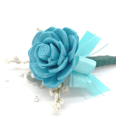 Timeless Teal Boutonniere