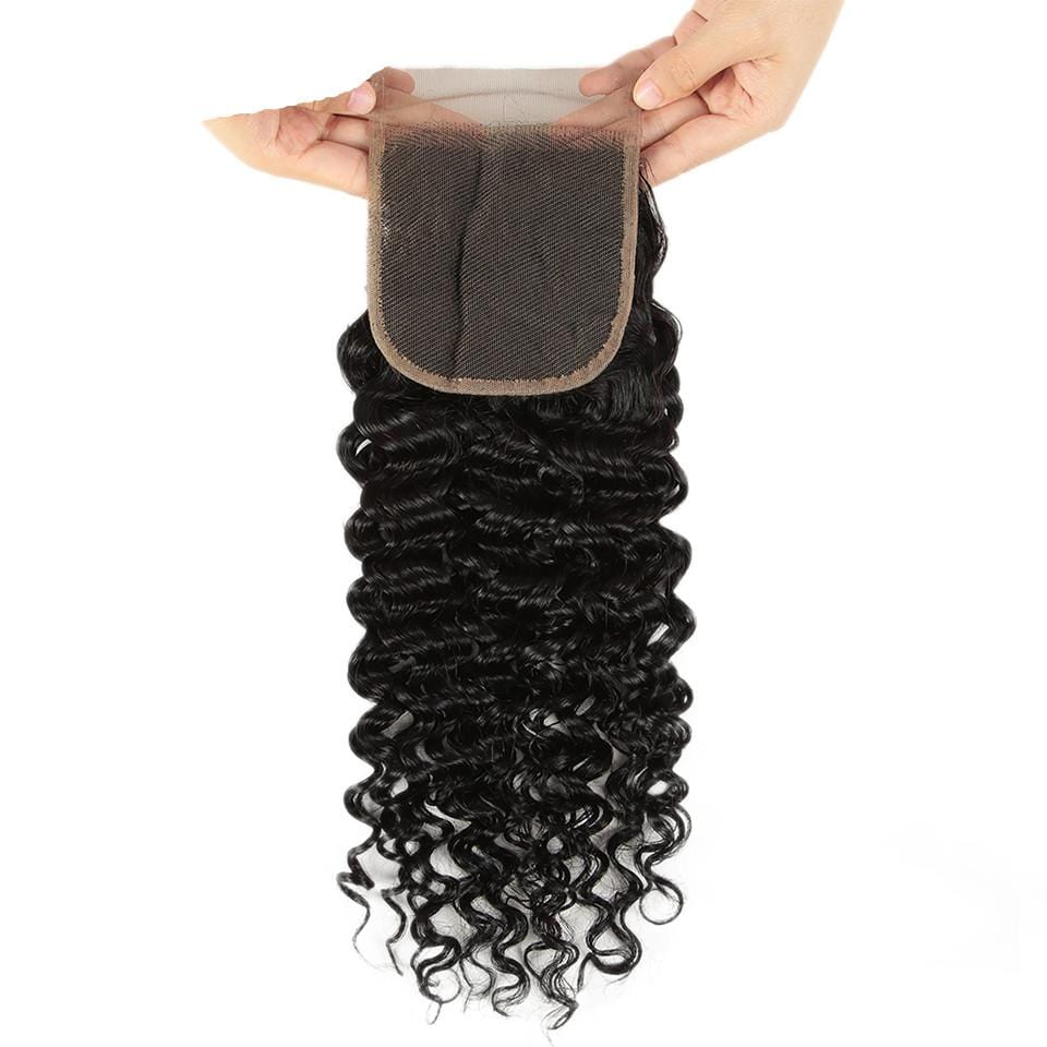 Human Hair Lace Closure Jerry Curl Brazilian Virgin Hair Lace Closure 4x4 Lace Closure