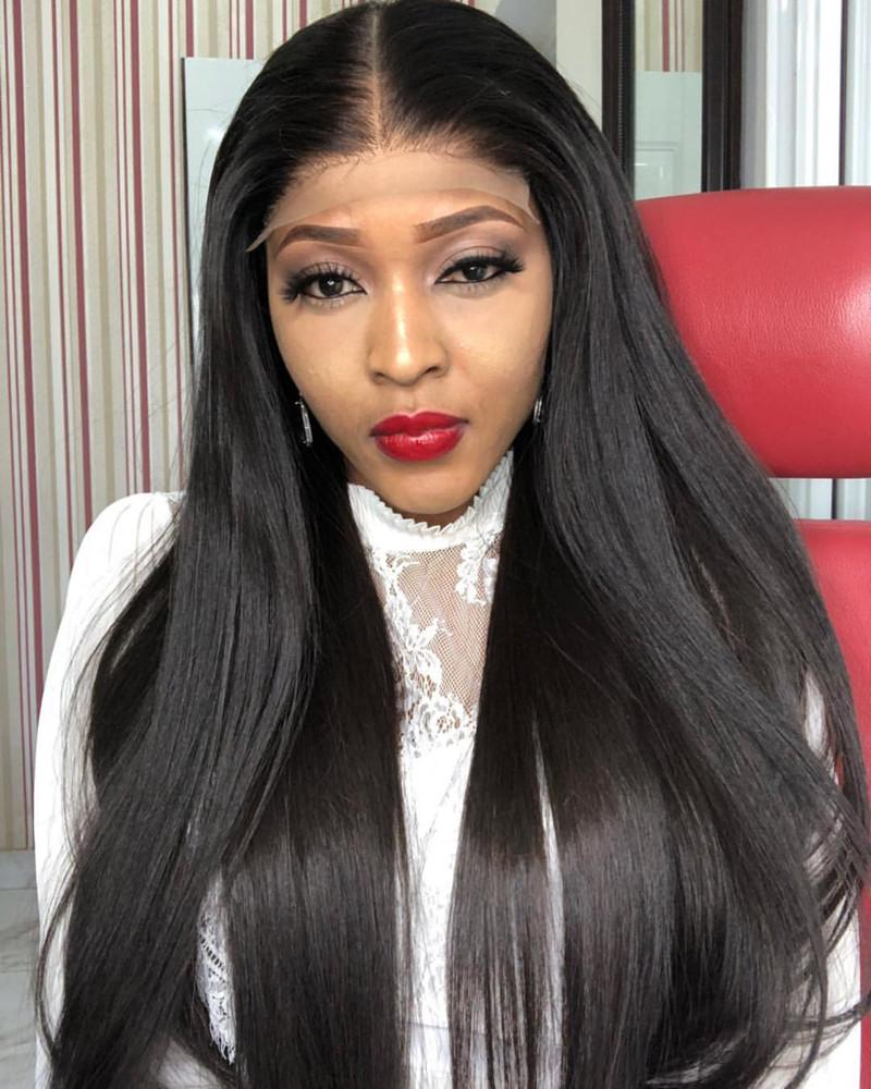 Double Drawn Lace Front Wig 150% Density Straight Human Hair Wigs 13x4 Lace Wig