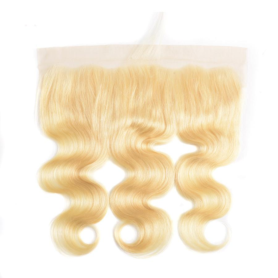 Human Hair 13X4 Lace Frontal #613 Blonde Color Body Wave Hair Brazilian Virgin Hair