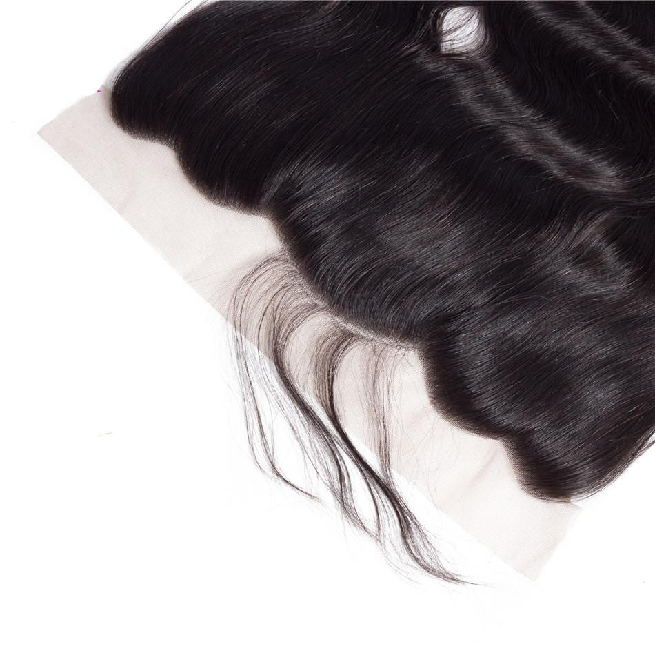 Human Hair 13x4 Lace Frontal Loose Deep Wave 10A Grade Brazilian Hair Natural Color Lace Frontal
