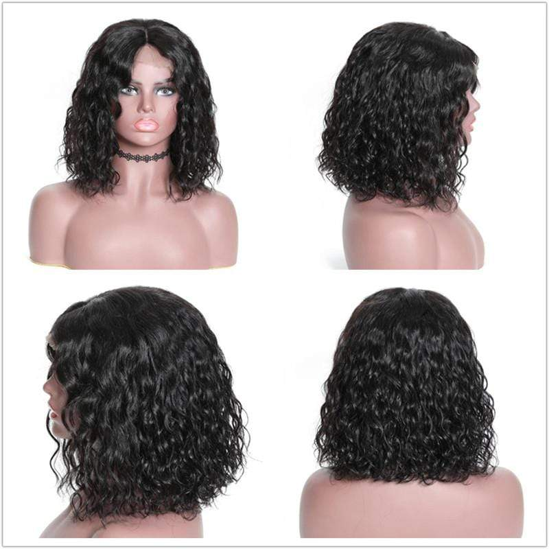 Human Hair BoB Wig Curly Hair 150% Density Straight Hair Short Hair Wig