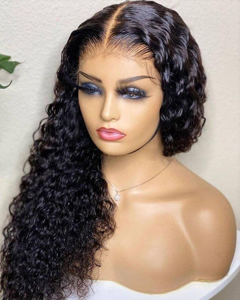 Human Hair Lace Front Wig 150% Density Curly Hair 13x4 Lace Wig