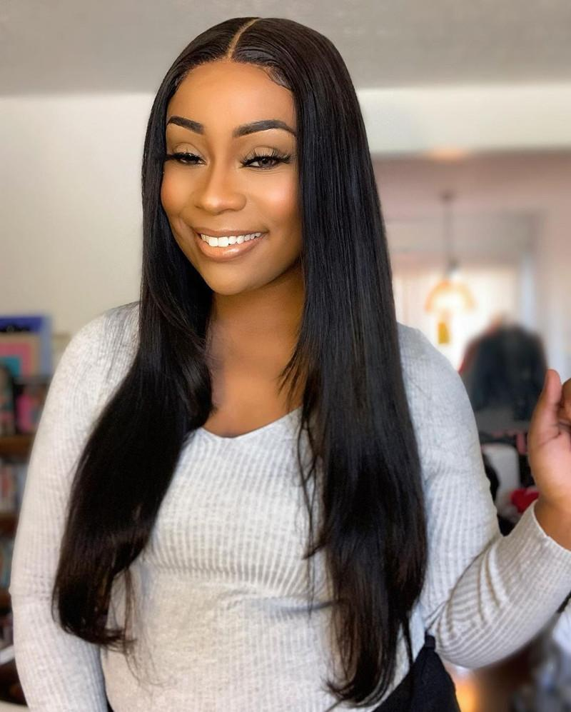 Human Hair Lace Wig 130% Density Straight Hair 4x4 Lace Front Wig