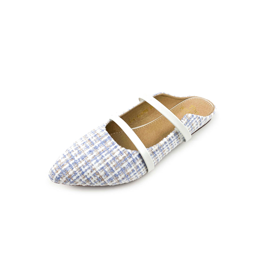 Kayi Slipper - Multi Blue Flannel
